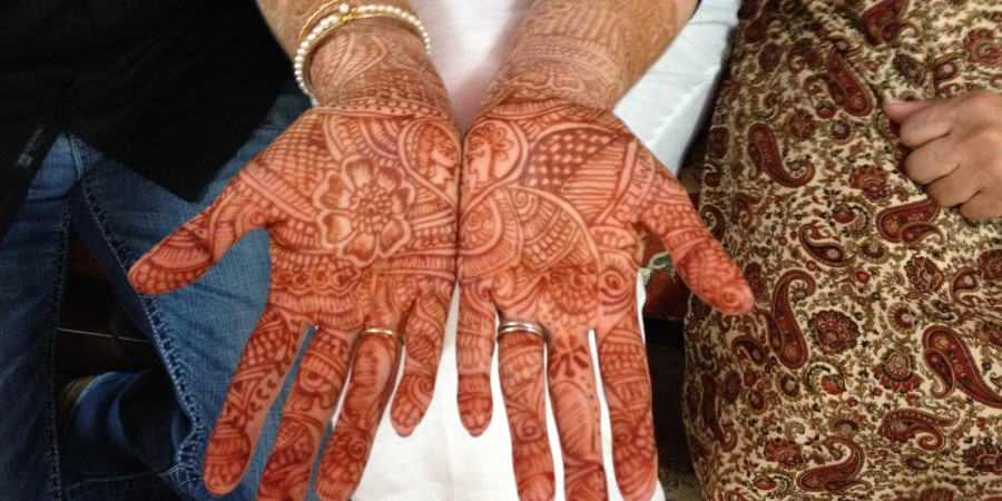 Henna on a Woman's Hands